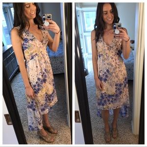{Leith} floral print high low dress